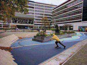 benthemplein water square skate park zadkine rotterdam